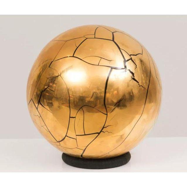 Larry Lubow Signed Ceramic Globe/Sphere Sculpture