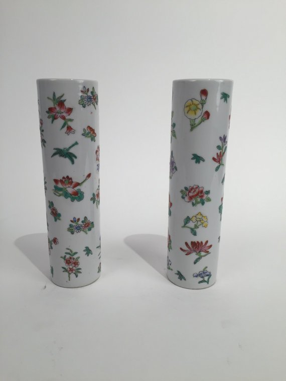 Pair antique ceramic vase