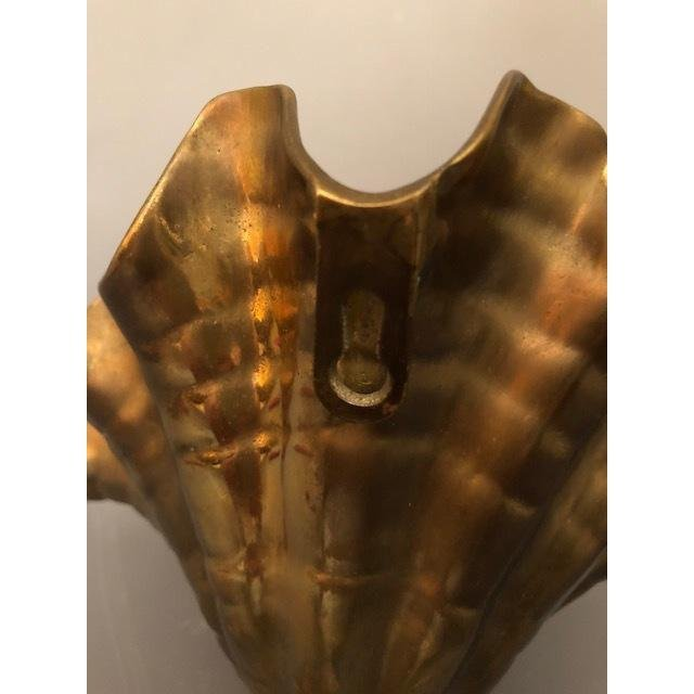 Hollywood Regency Brass/Gold Shell Wall Sconce - 3