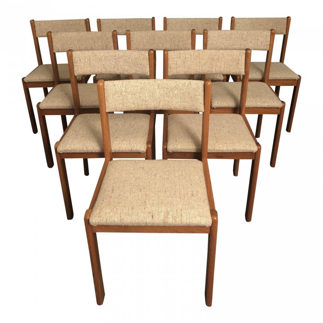 Vintage Mid-Century Teak Danish Dining Chairs- Set of 1
