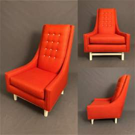 Mid-Century Adrian Pearsall High Back Lounge Chair