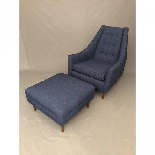 Sensational 1960S Vintage Lounge Chair Ottoman 2 Pieces Dec 18 Ibusinesslaw Wood Chair Design Ideas Ibusinesslaworg