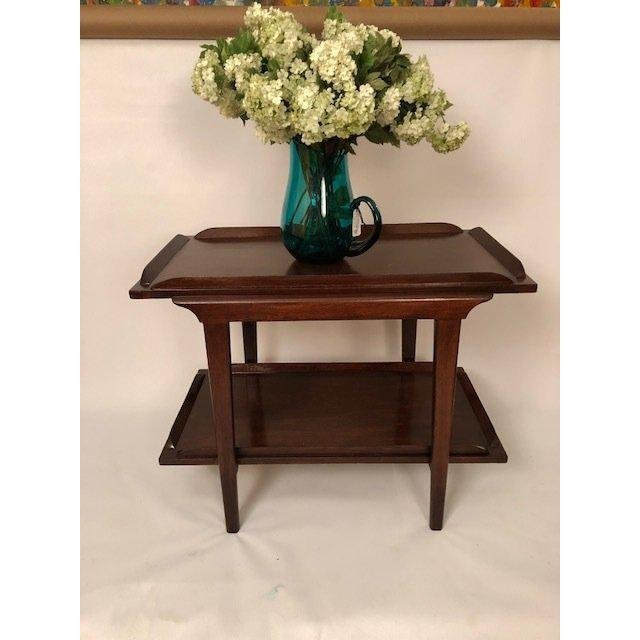 Mid-Century Walnut End Table/Coffee Table With Bottom S - 2