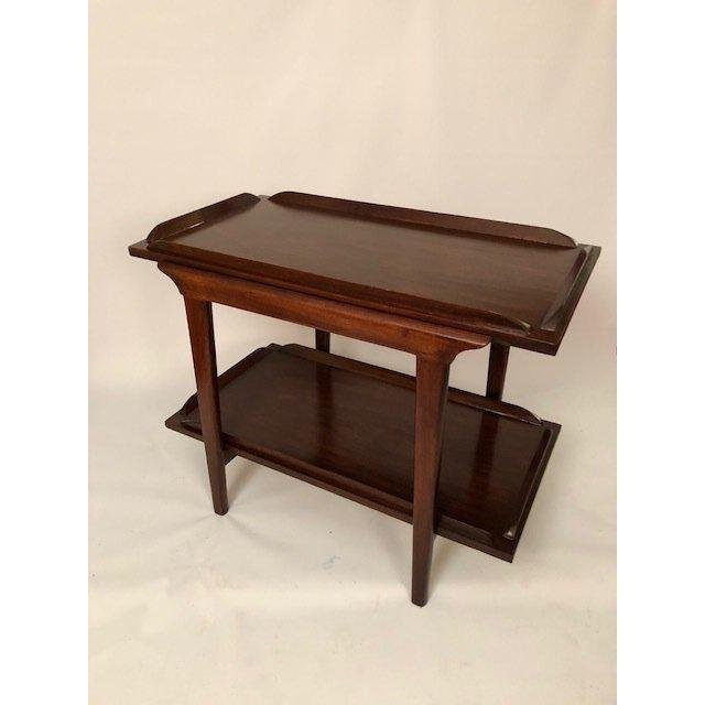 Mid-Century Walnut End Table/Coffee Table With Bottom S - 4