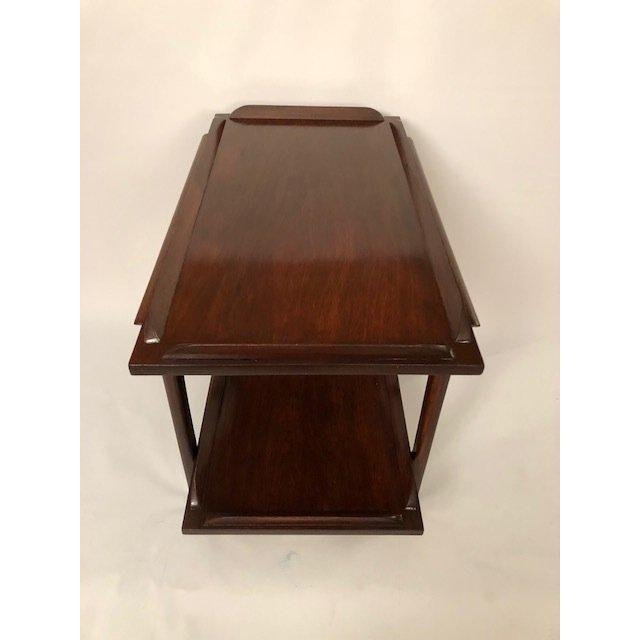 Mid-Century Walnut End Table/Coffee Table With Bottom S - 5