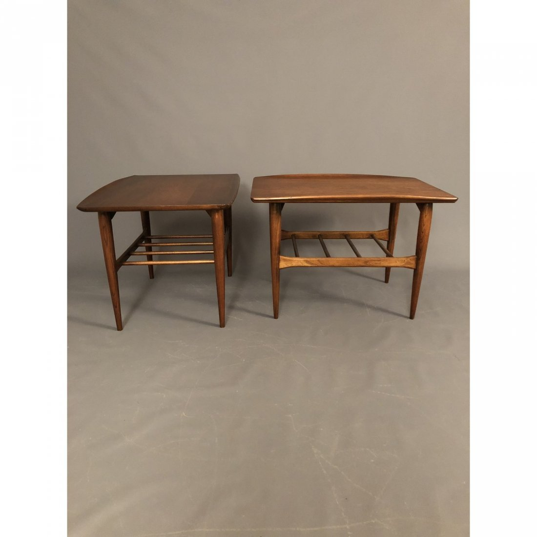 Mid-Century Walnut End Tables - A Pair - 3