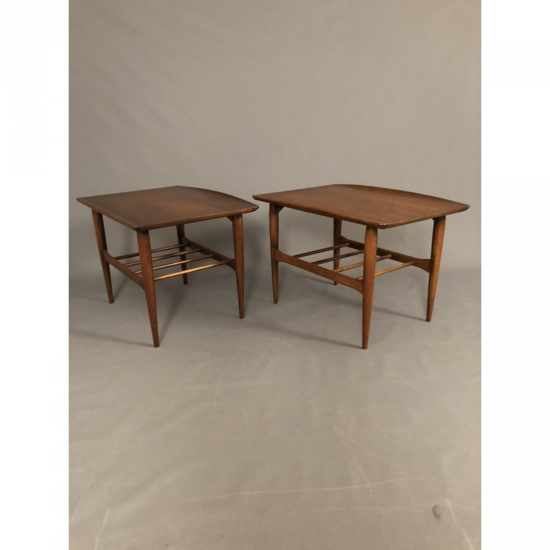 Mid-Century Walnut End Tables - A Pair - 4