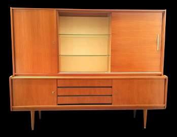 Munker Modell Mid Century Teak Bar Cabinet