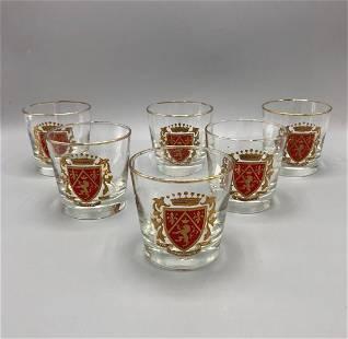 Mid century shot glasses set of six