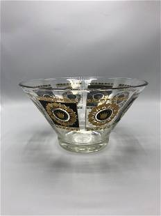 Mid century clear glass bowl by George Briard 1960s