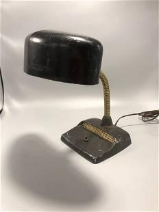 Art deco adjustable black desk lamp 1950's circa