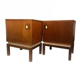 Mid-Century pair of Danish teak nightstand