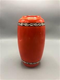 Mid-Century ceramic orange vase