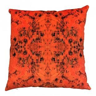Bruce Mishell Collection Velvet & Vinyl Pillow