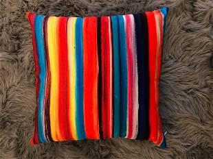 Bruce Mishell Velvet & Vinyl Pillow