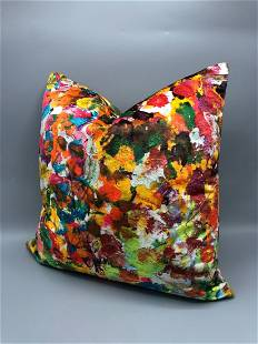 Handmade Square pillow with bruce Mishell design