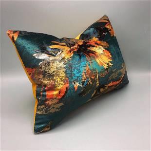Handmade Lambert pillow with birds flowers design