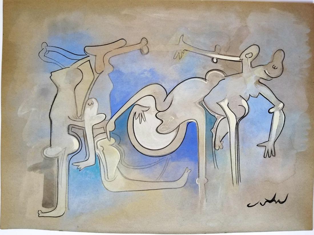 Roberto MATTA gouache on paper