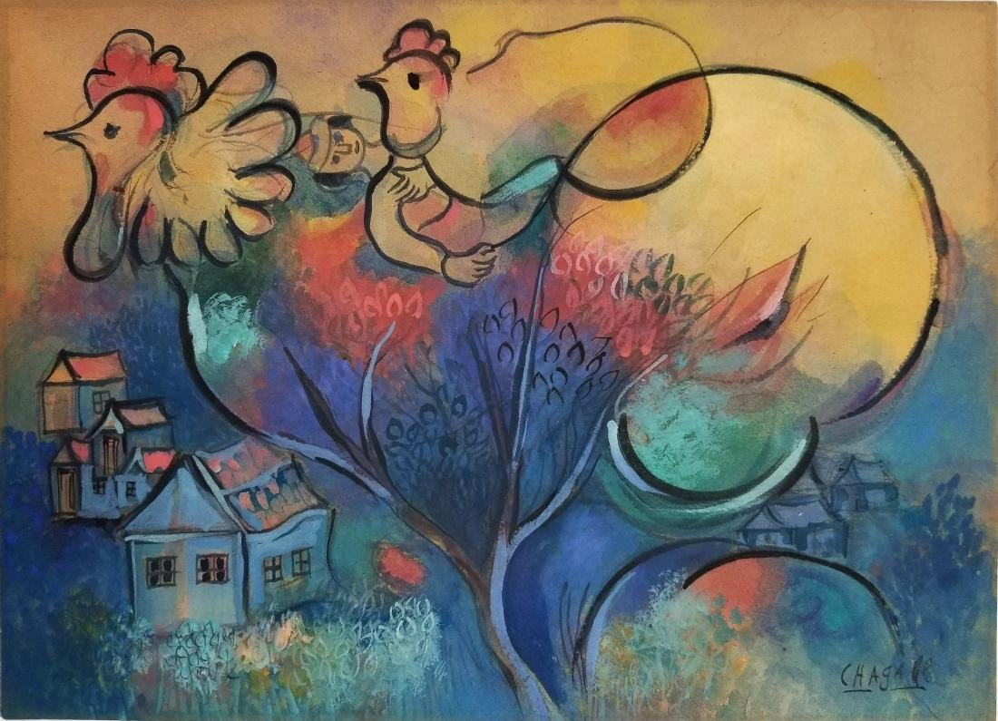 (Att.)Marc Chagall - Gouache on paper - 2