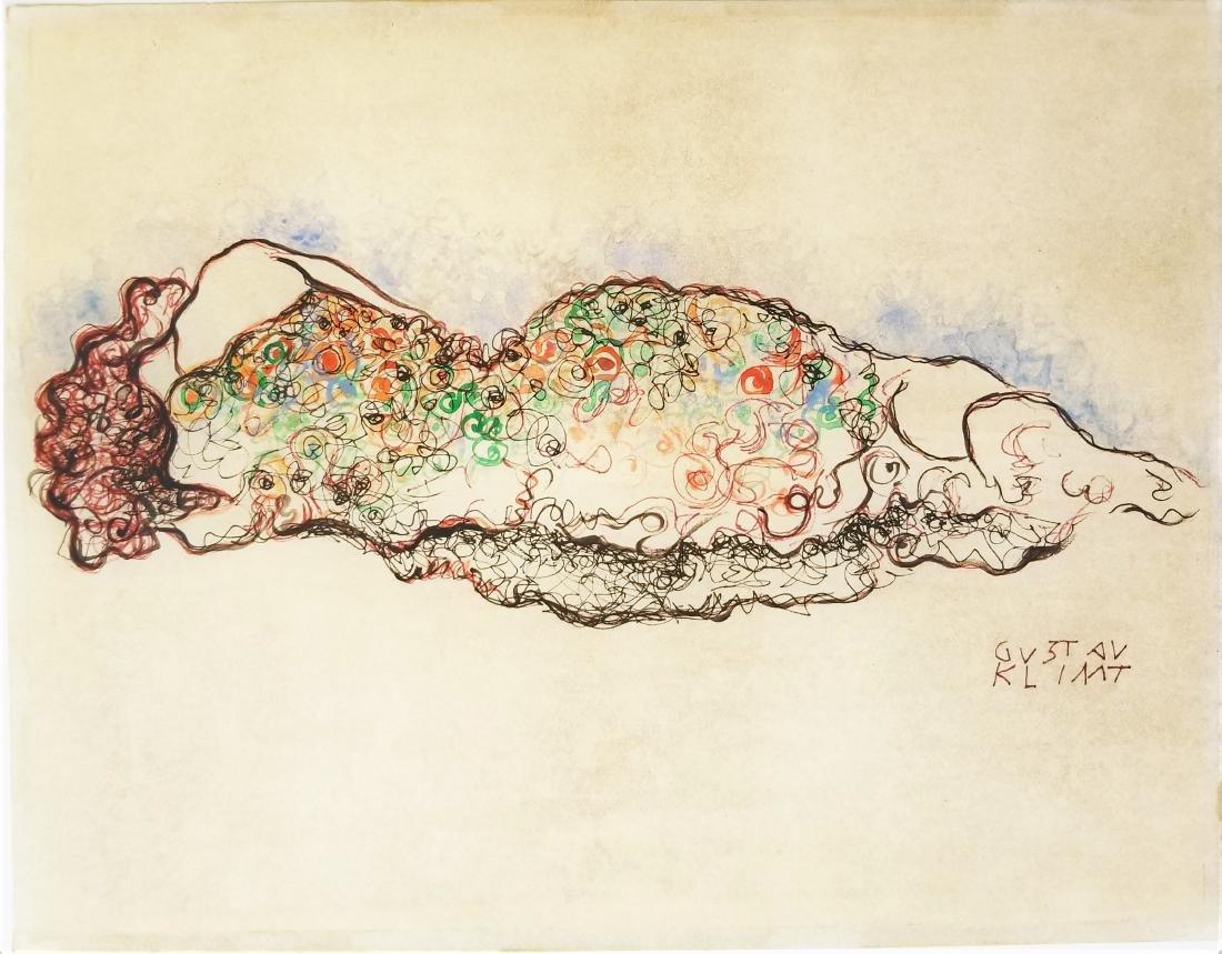 In the style of Gustav Klim ink on paper