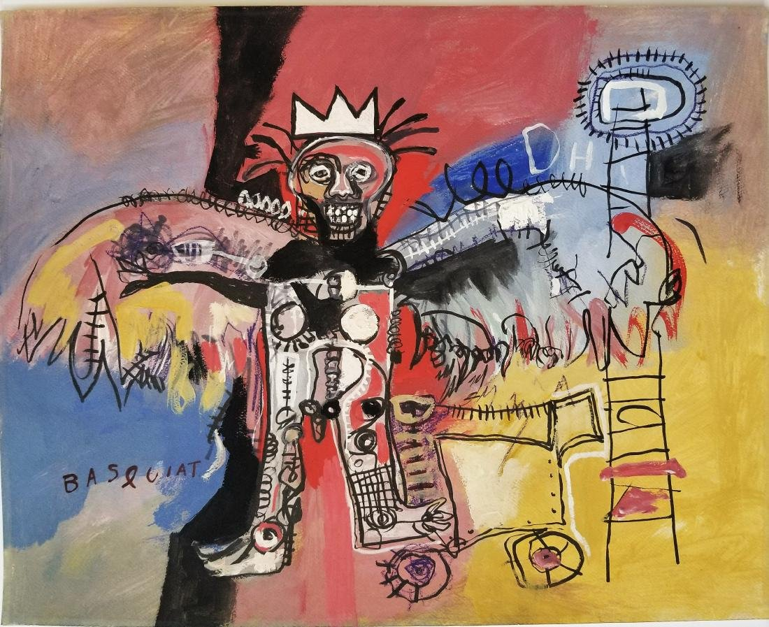 Mixed media on paper in the style of Jean Mihel