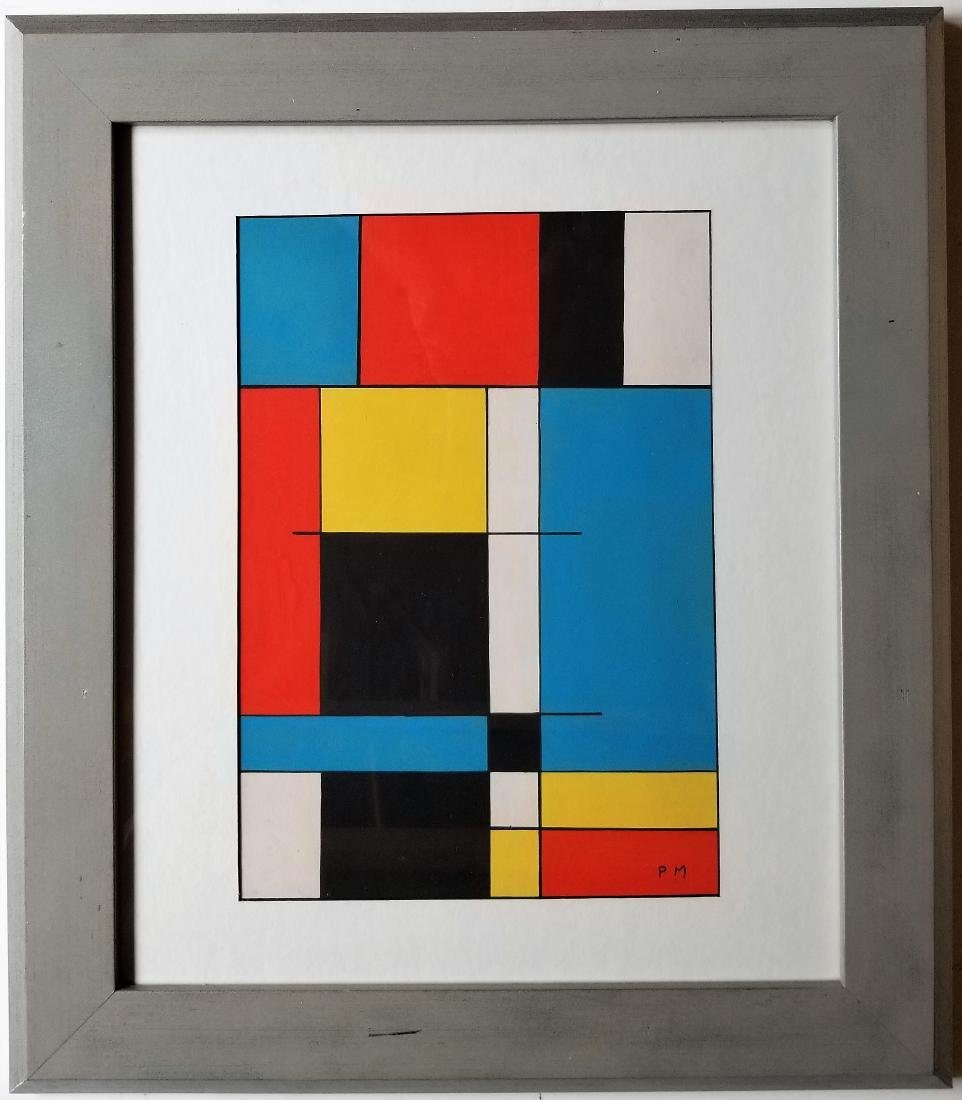 Attributed to Piet Mondrian - Gouache on paper