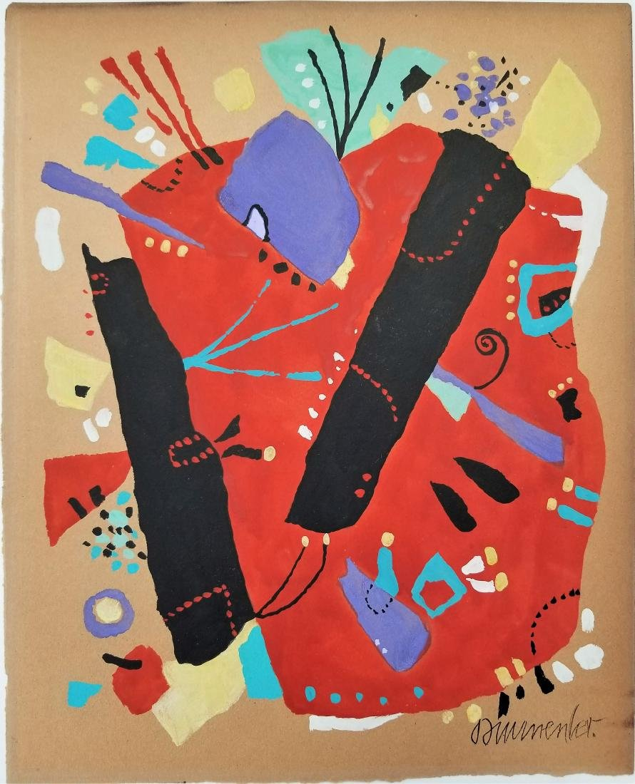 (Att.)Willi BAUMEISTER, Gouache on paper