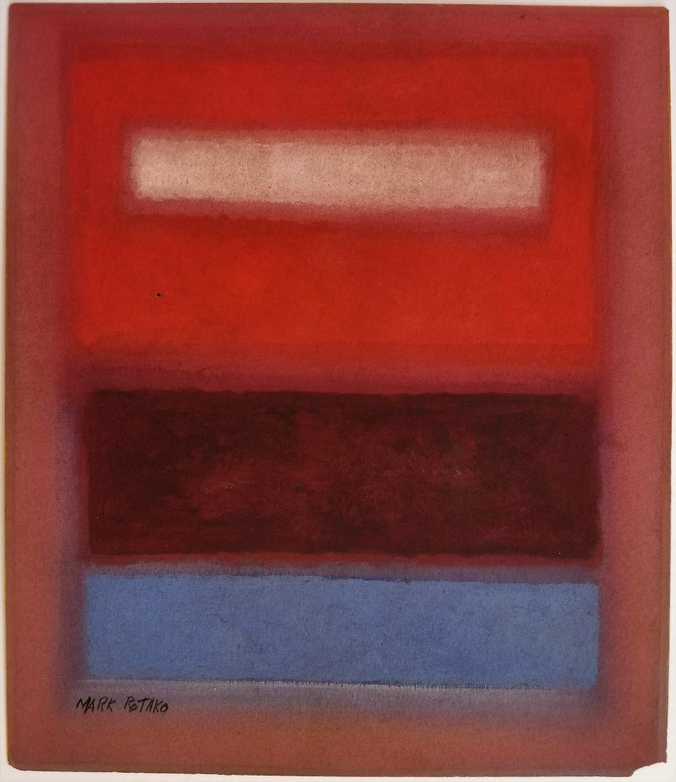 Attributed to Mark Rothko - Mixed media on paper