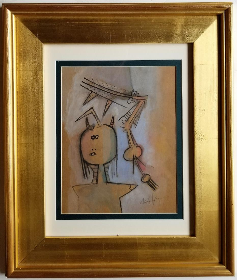 Wifredo LAM mixed media on paper