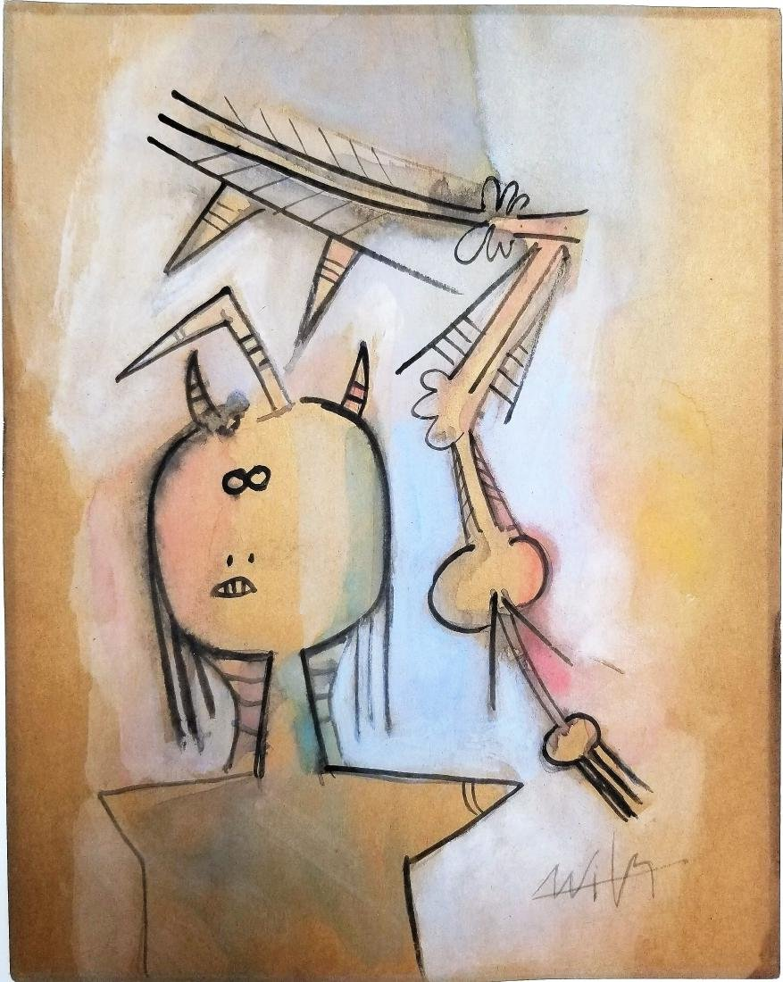 Wifredo LAM mixed media on paper - 2