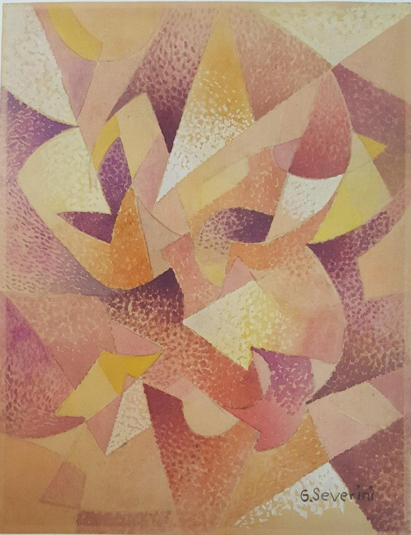 Attributed to Gino Severini  gouache on paper