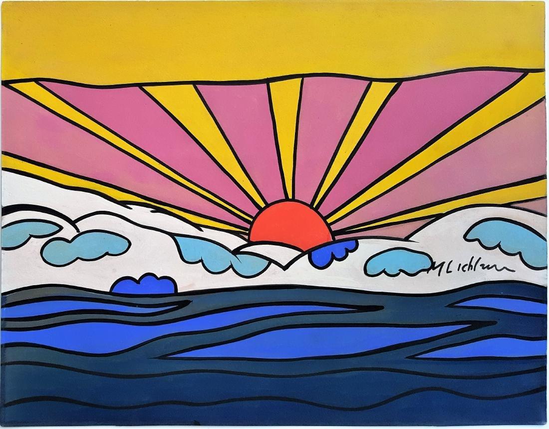 In the style of Roy Lichtenstein gouache on paper