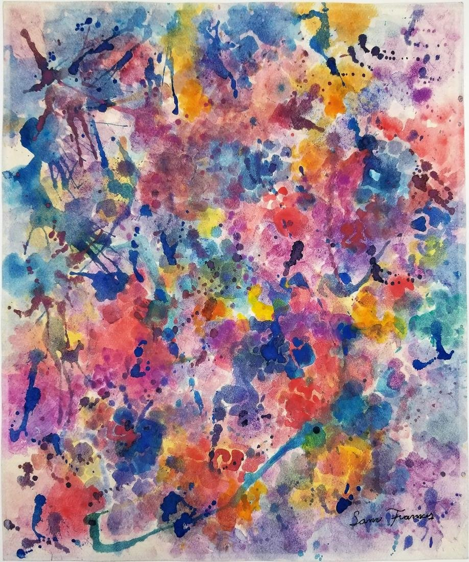 Gouache on Paper signed Sam Francis