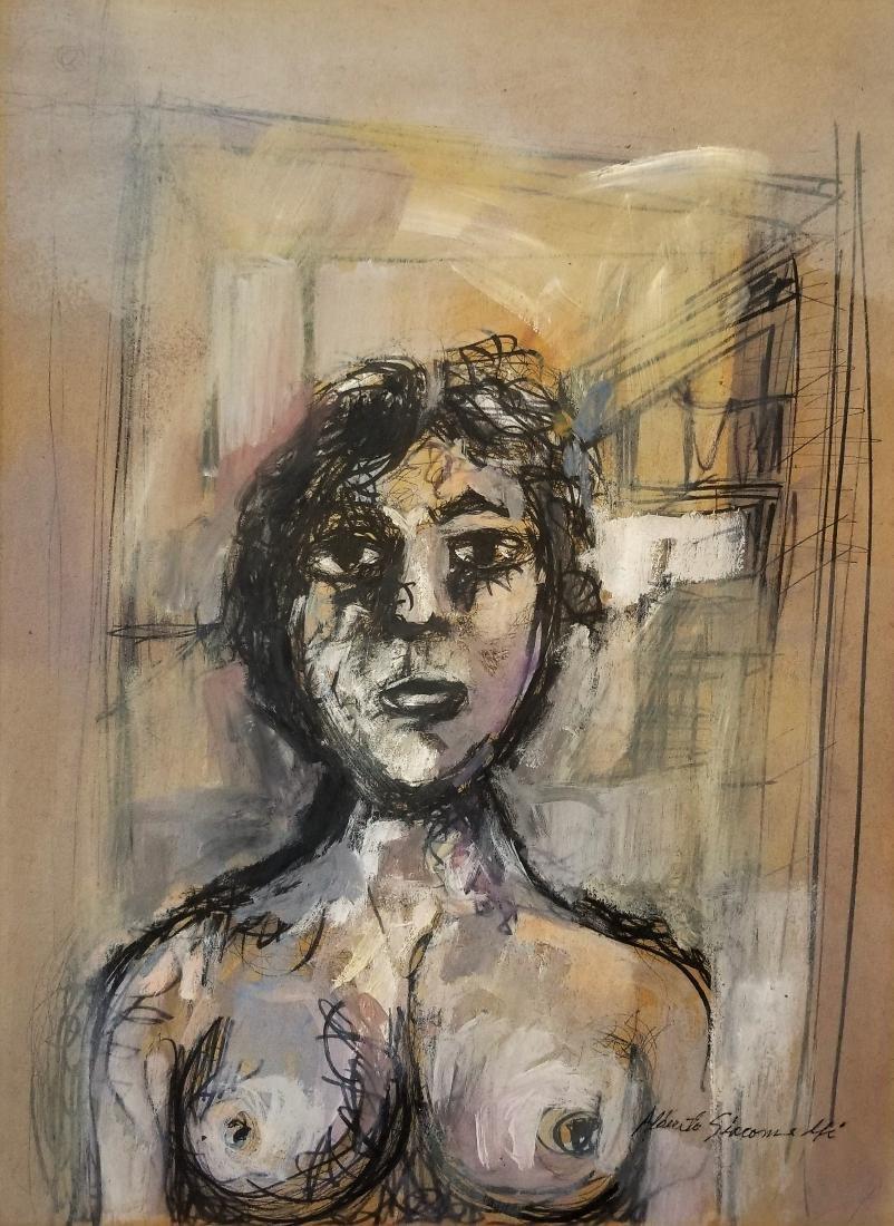 (Att.)Alberto GIACOMETTI ink on paper