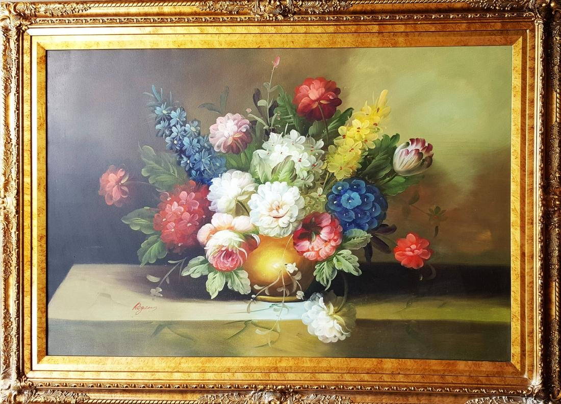 Antique oil  on canvas signed painting,Unknown artist