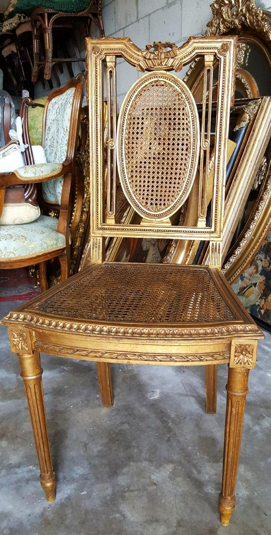Vintage Gold  Wood Chair
