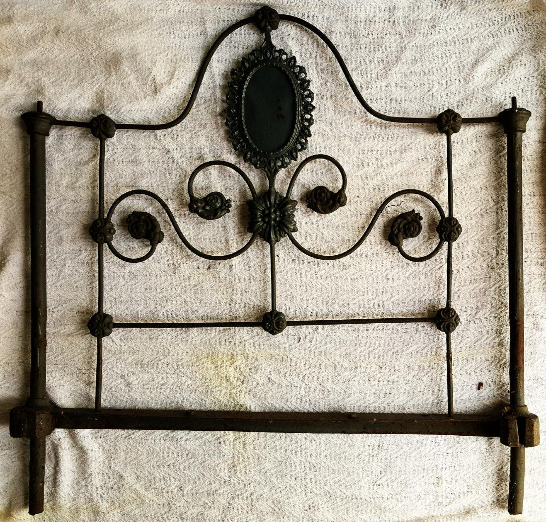 Antique Iron  Personal Size Bed Frame