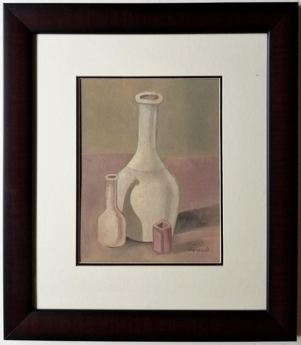 In the style of Giorgio Morandi gouache on paper