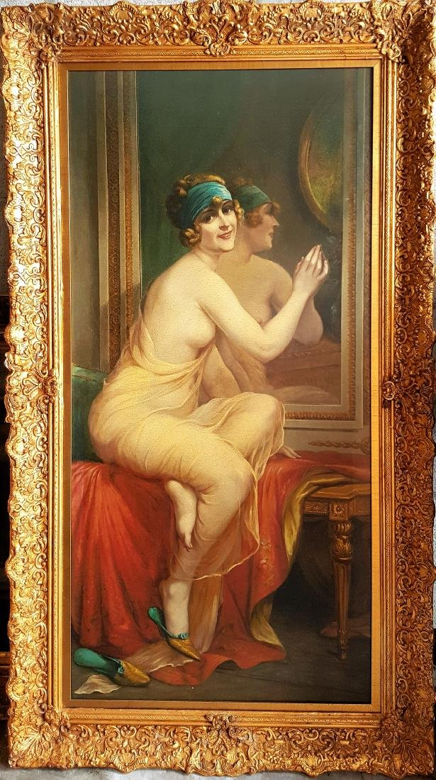 Antique oil on canvas painting, Unknown artist