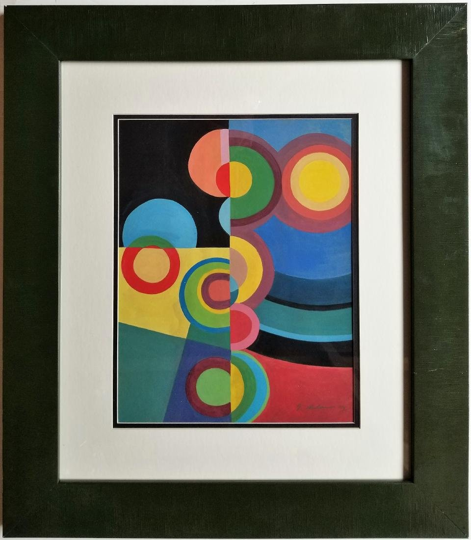 Gouache on paper In Style of Robert Delaunay