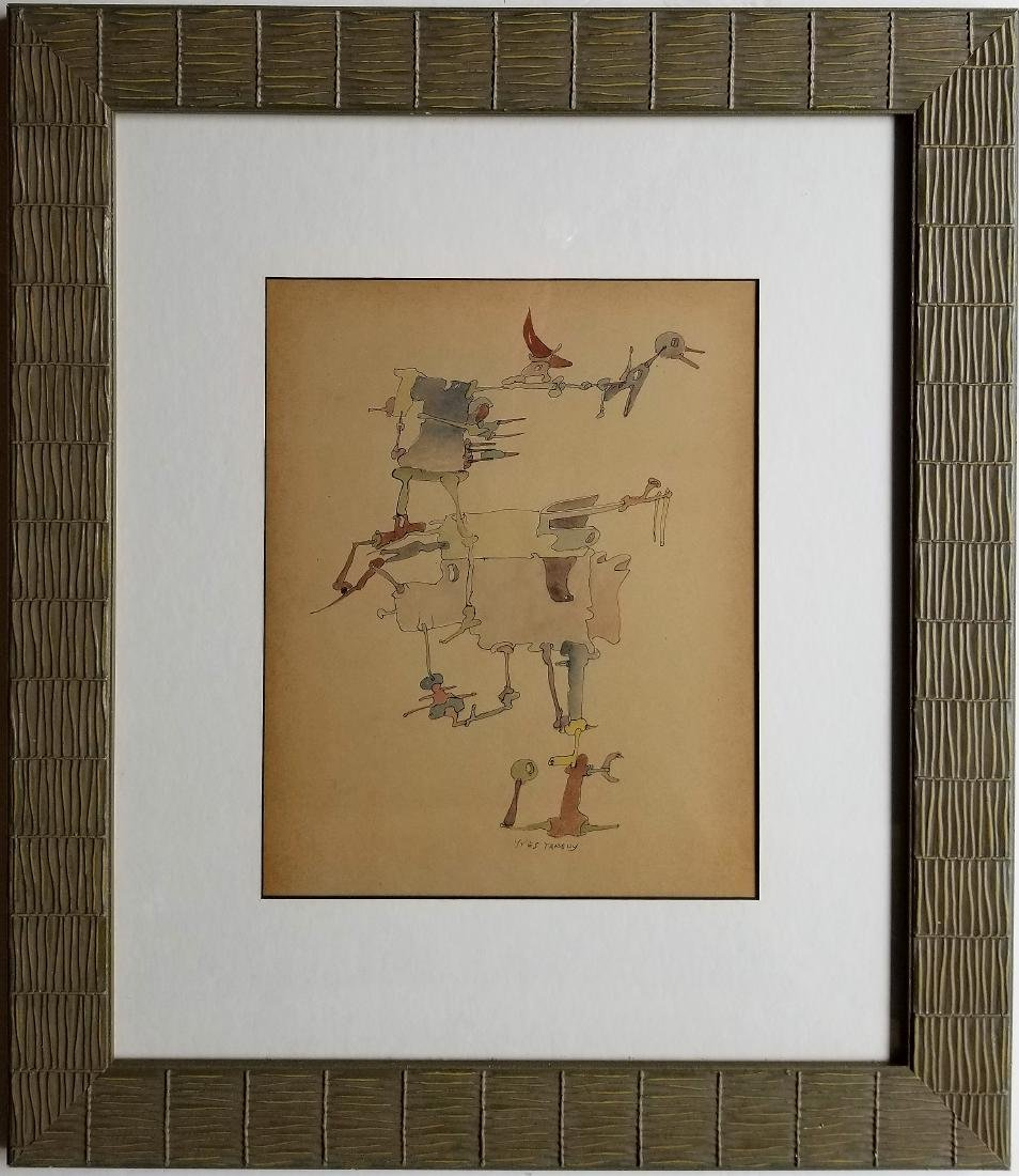 Attributed to Yves TANGUY gouache on paper