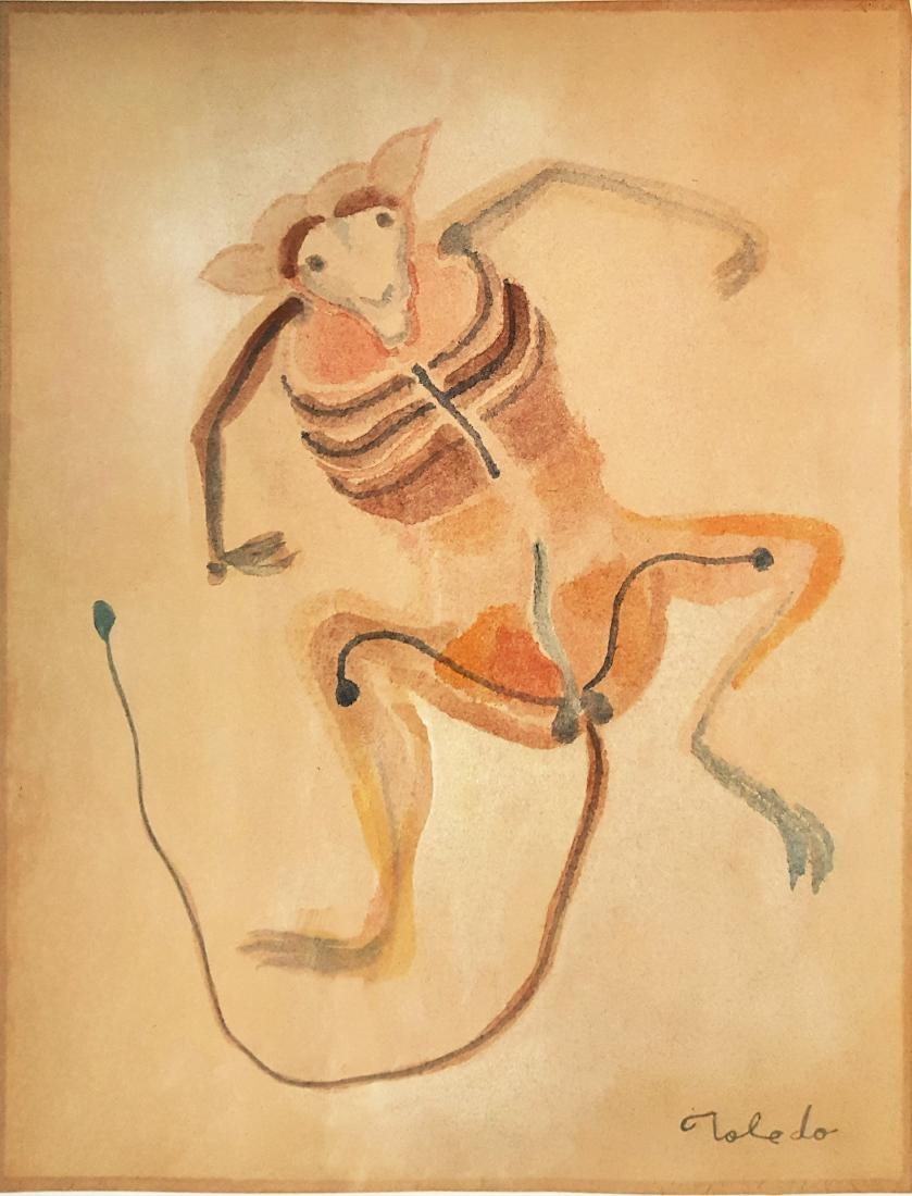 Francisco Toledo watercolor on paper - 2