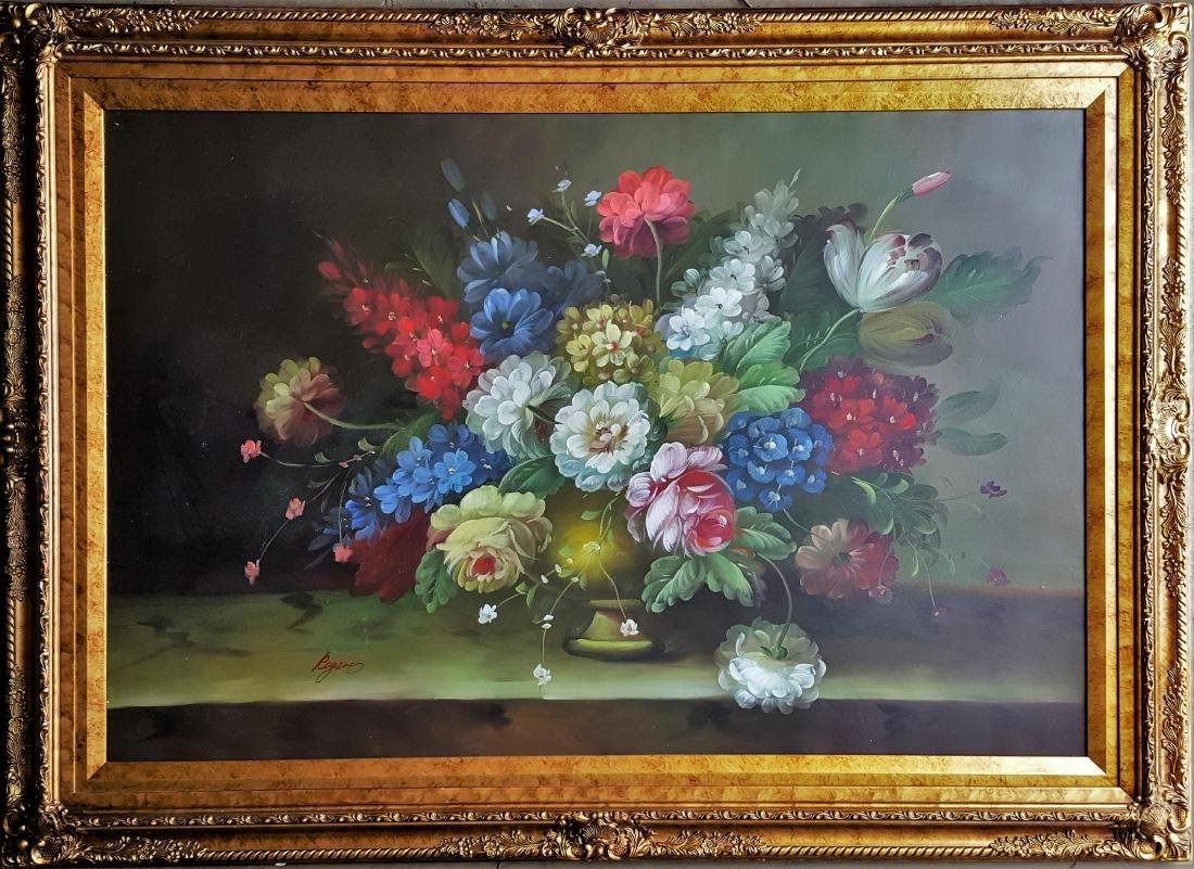 Antique oil  on canvas signed painting