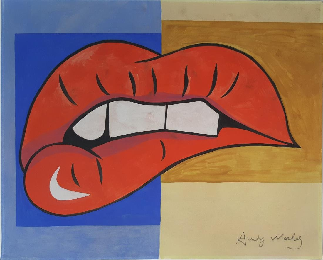 Andy Warhol (Attrib) - gouache on paper