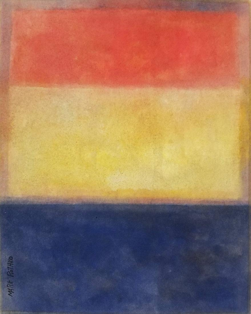 Gouache on paper In the style of Mark Rothko