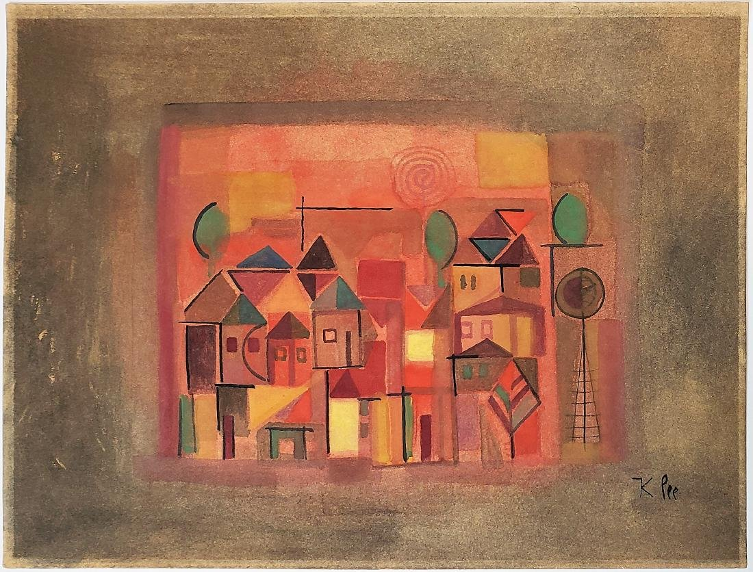 Gouache on paper signed Klee