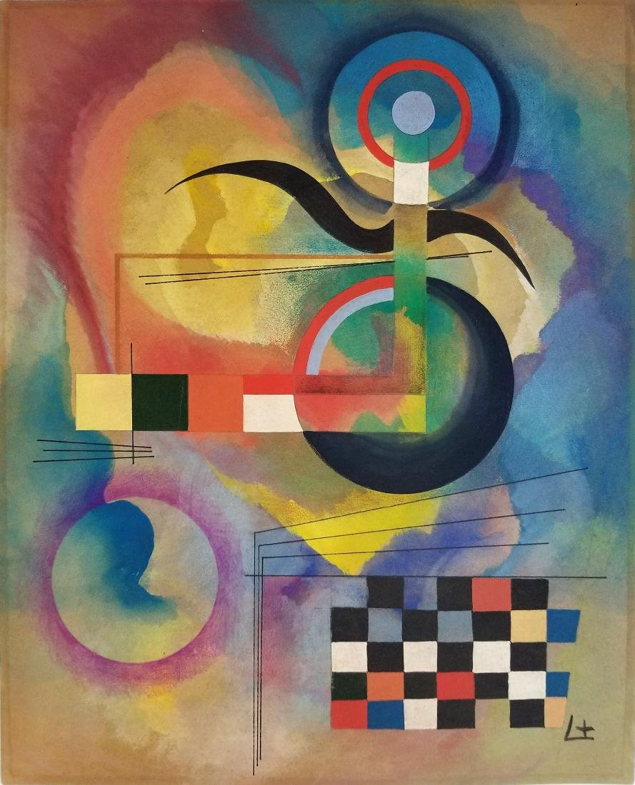 Watercolor on Paper. Wassily Kandinsky