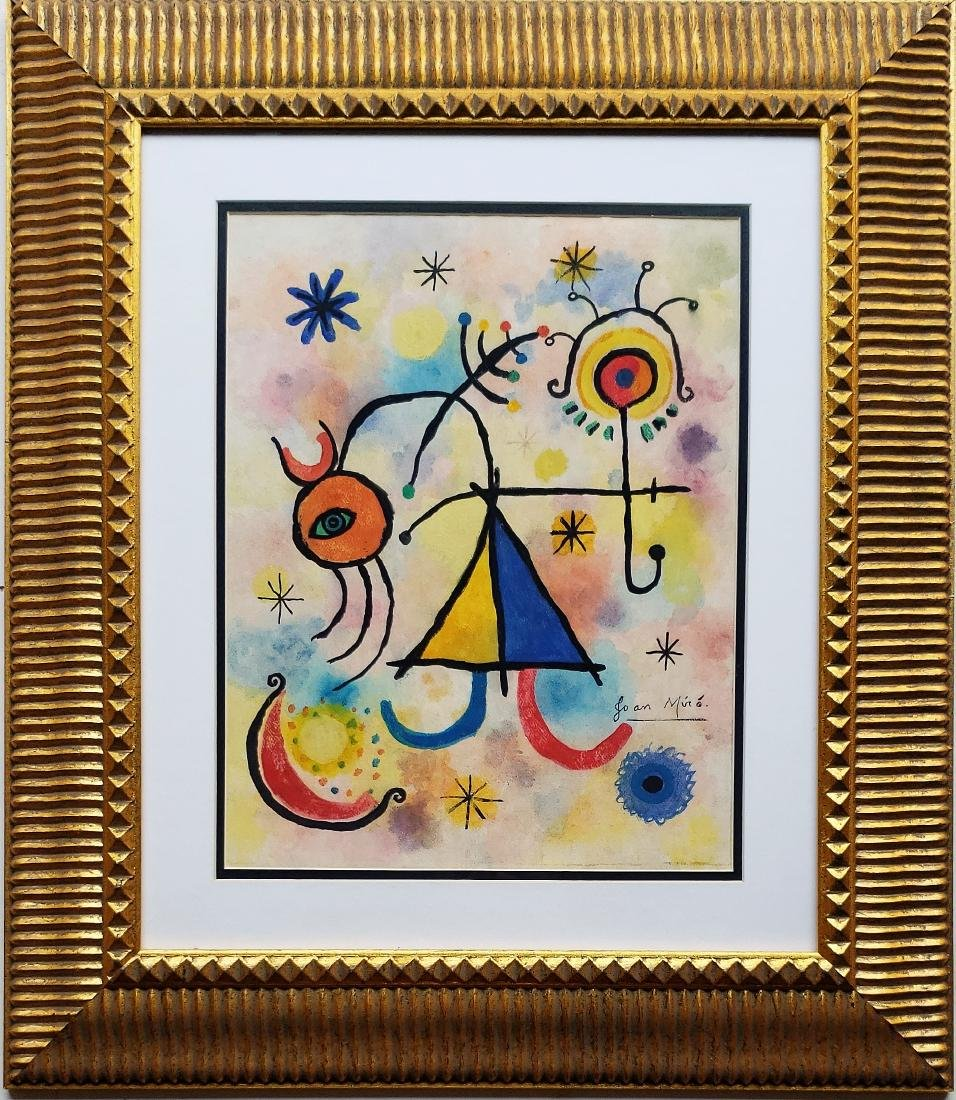 Gouache on paper signed Joan Miro - 3