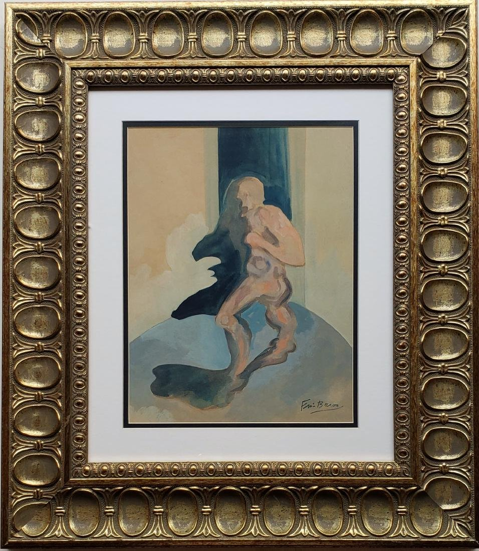 Gouache on paper in the style of Francis BACON
