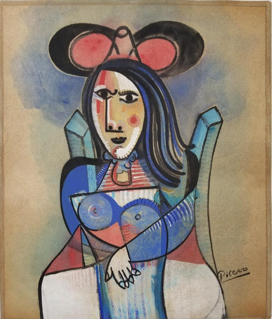 PICASSO MIXED MEDIA ON PAPER
